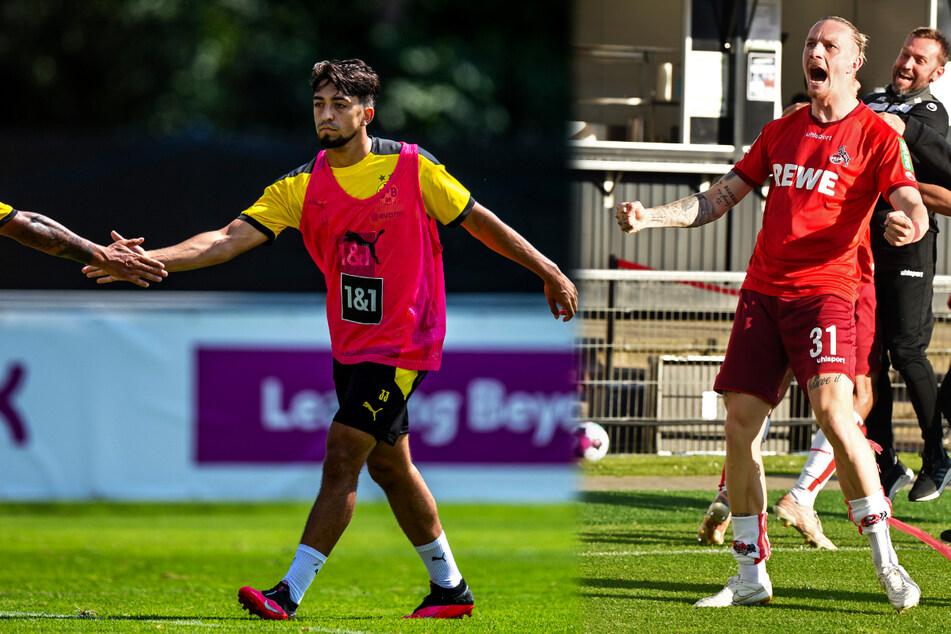 Die verliehenen Offensivakteure Immanuel Pherai (20, l.) und Marius Wolf (26, v.-r.) haben beim BVB wohl keine Chance mehr.