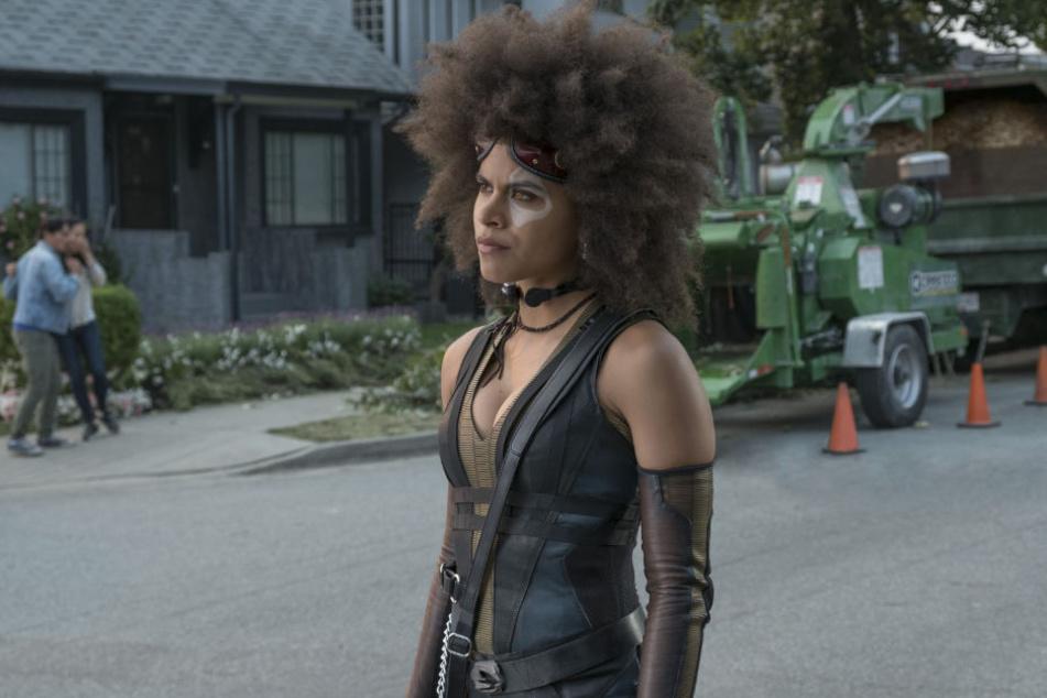"""Zazie Beetz als Domino in einer Szene von """"Deadpool 2""""."""