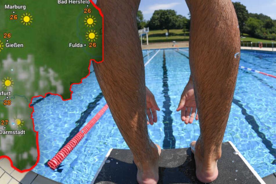 Auch in der nächsten Woche herrscht in Hessen perfektes Bade-Wetter (Symbolbild).