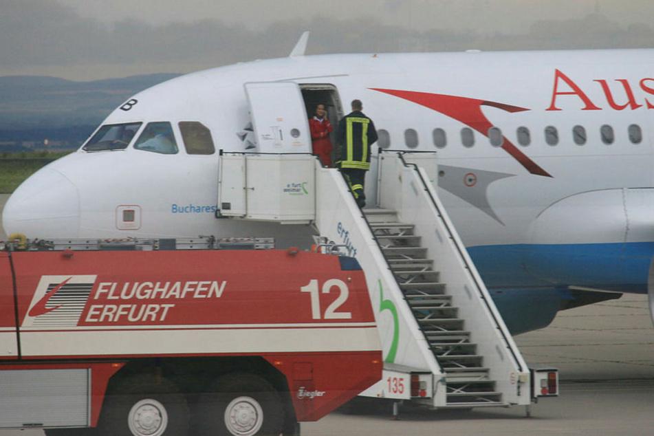 Abfallender Luftdruck: Österreichische Passagiermaschine in Erfurt notgelandet