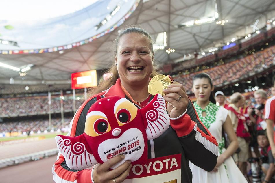 Am 23. August 2015 feierte Christine Schwanitz den größten Erfolg ihrer Karriere: WM-Gold in der chinesischen Hauptstadt Peking.