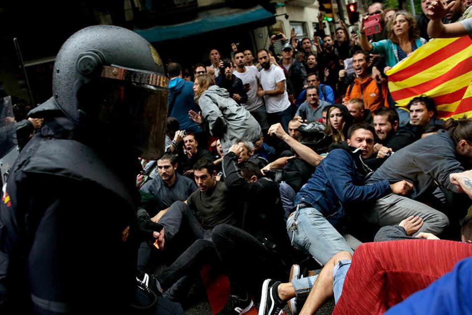 Generalstreik in Katalonien: Demonstranten blockieren Straßen in Girona