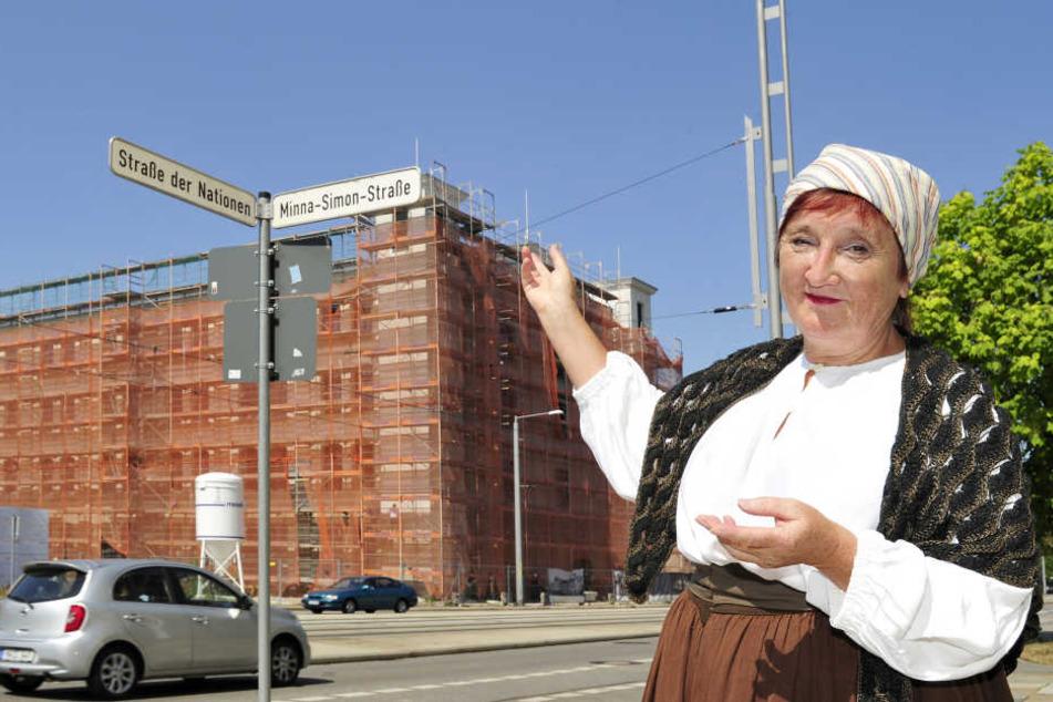 Sie war die erste Frau, die in Chemnitz einen Streik anführte
