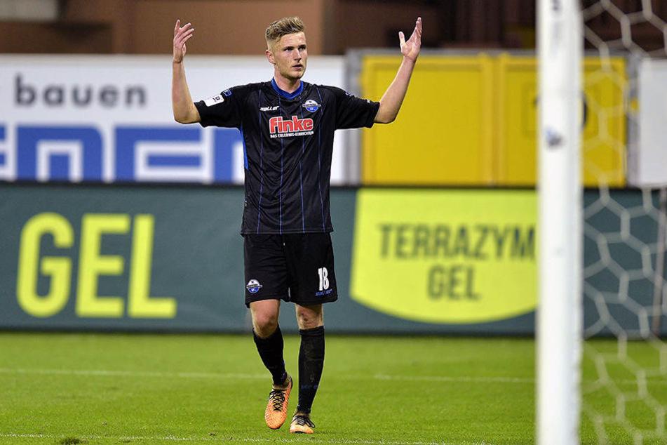 Nach seiner Verletzung gegen den VfL Bochum im DFB-Pokal kehrte Dennis Srbeny in die Startelf zurück.