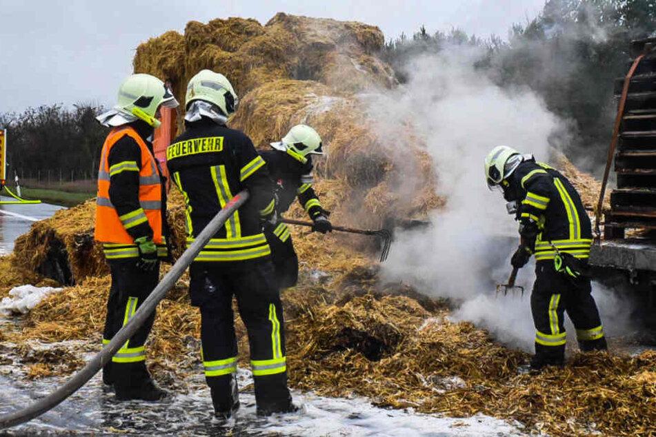 Die Feuerwehr musste am Dienstagvormittag zu einem Brand auf dem nördlichen Berliner Ring ausrücken.