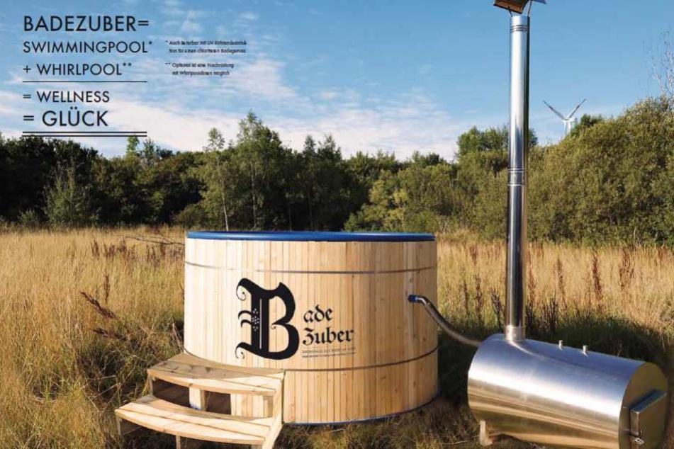 Badevergnügen im Winter und Sommer: Ein Kunststoffbauer aus dem Erzgebirge hat einen innovativen Badezuber entwickelt.
