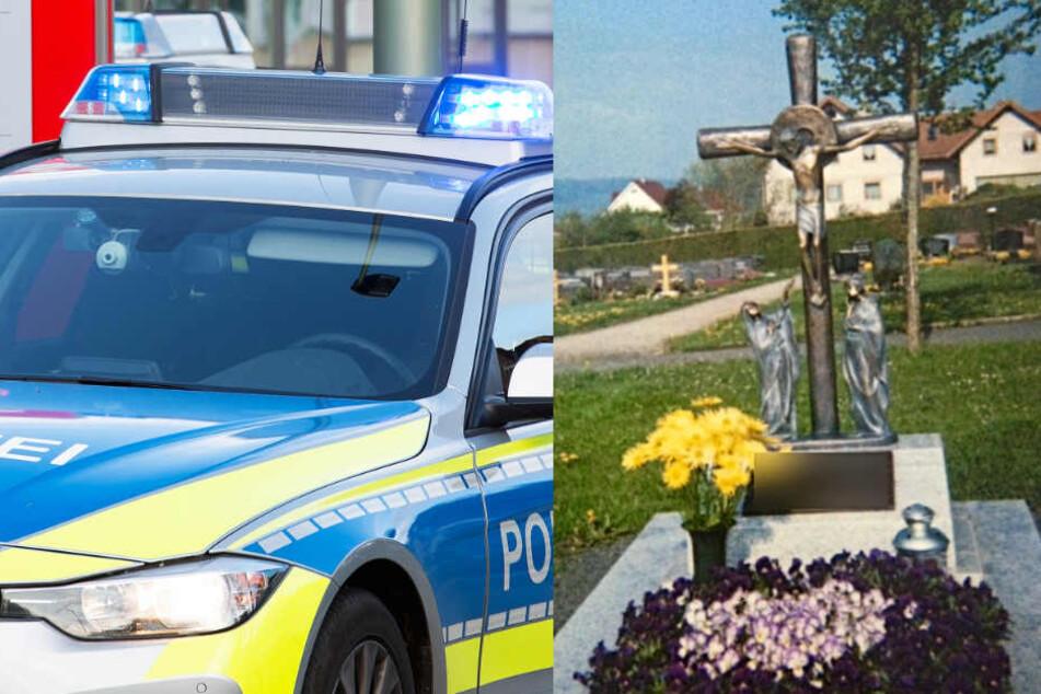 Grab geschändet: Diebe stehlen wertvolles Bronze-Kreuz