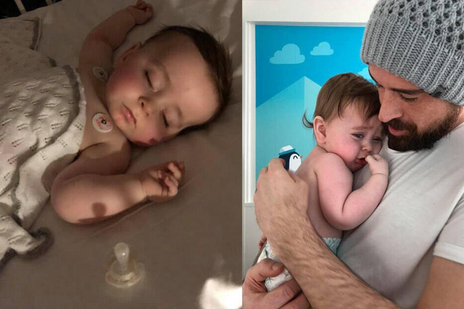 Eltern müssen Baby dringend ins Krankenhaus bringen, weil es alle 30 Minuten brechen muss