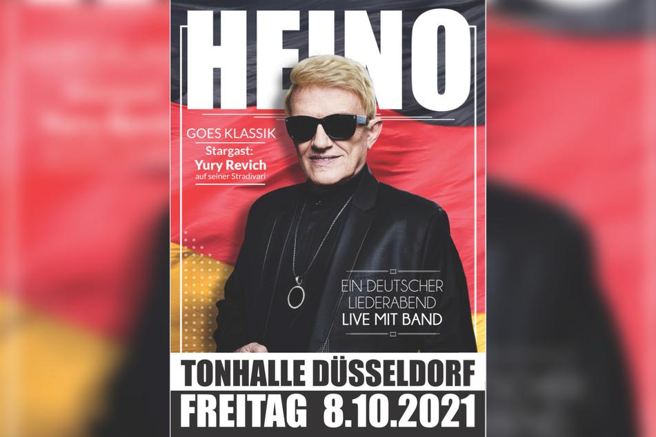 Das Plakat mit Sänger Heino (82).