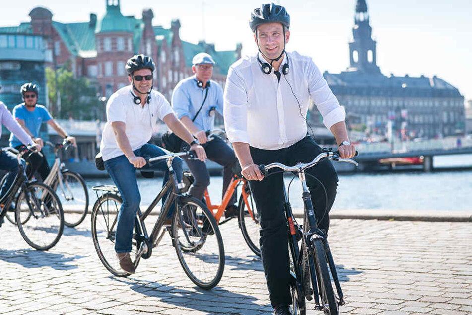 Martin Dulig war diese Woche dienstlich in Kopenhagen unterwegs - schnittig auf dem Zweirad.