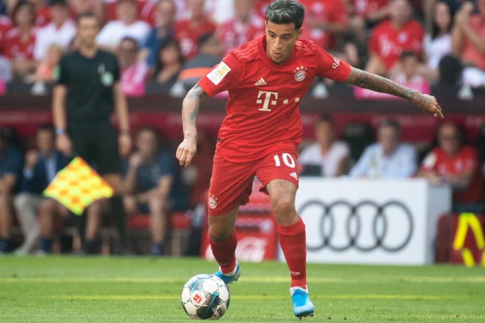 Philippe Coutinho durfte beim FC Bayern München erstmals von Beginn an mitwirken.