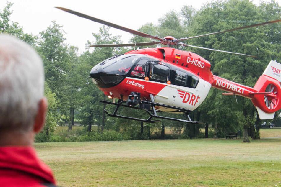 Die Kinder mussten in einem Hubschrauber in Kliniken gebracht werden. (Symbolbild)