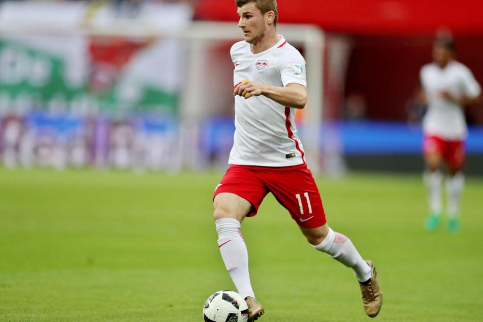 """""""Mittlerweile blende ich das aus und spiele einfach mein Spiel"""", sagt Timo Werner nach dem Länderspiel in Nürnberg selbstbewusst."""