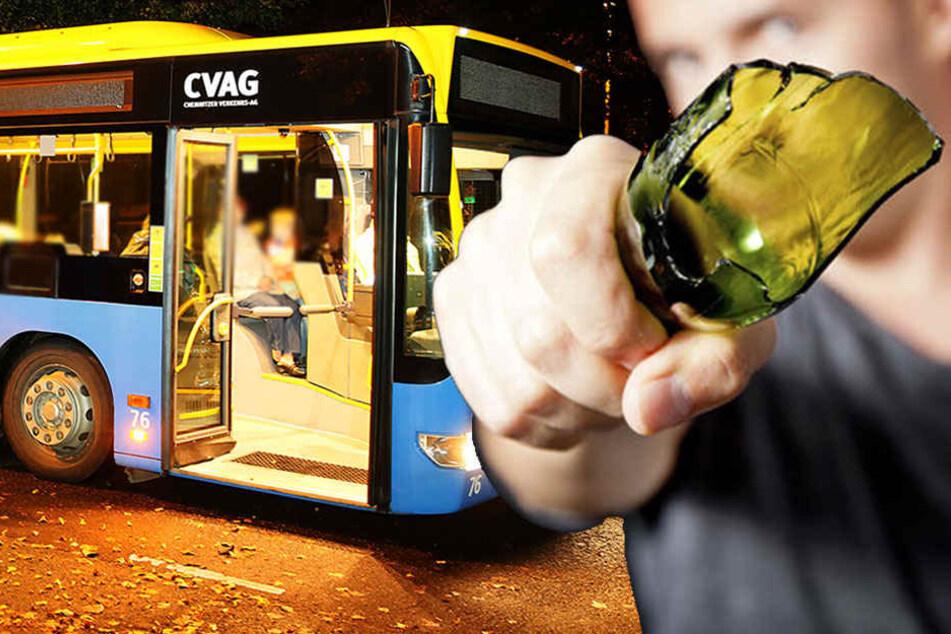 Mann schlägt im Bus mit Bierflasche auf Pärchen ein