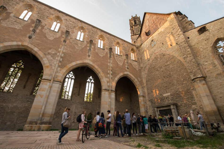 Im vergangenen Jahr konnte man auch die Ruine der Barfüßerkirche in Erfurt erkunden.