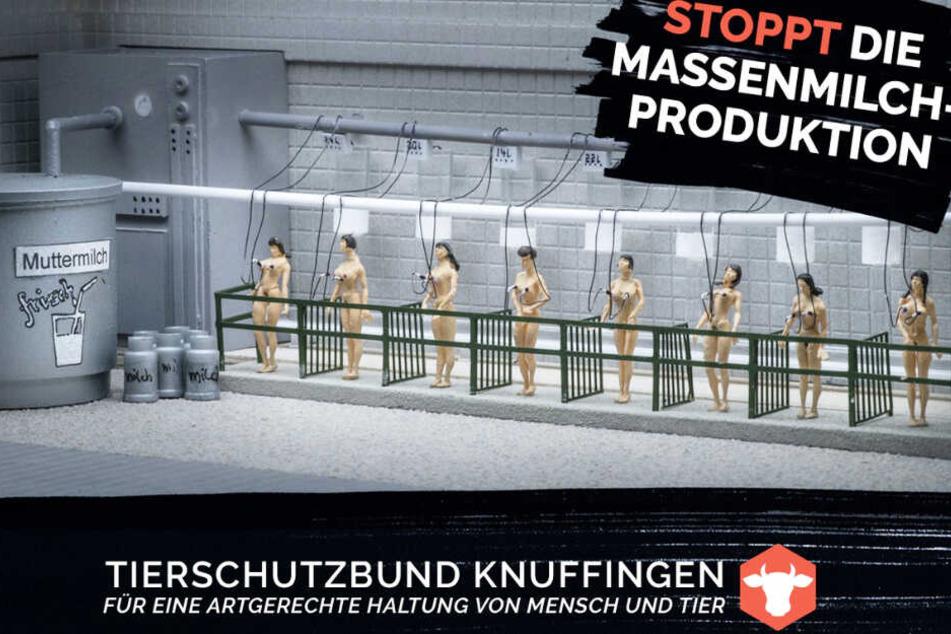 Frauen an Melkmaschinen: Das Miniatur Wunderland hat mehrere schockierende Plakate veröffentlicht.