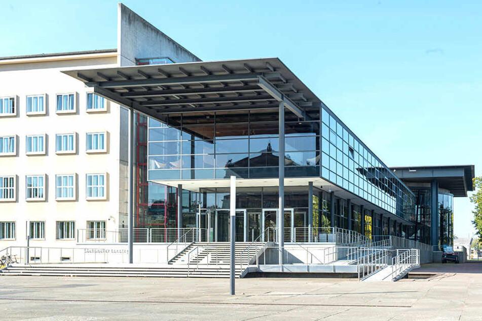 Der Landtag in Dresden ist heute TV-Wahlstudio.