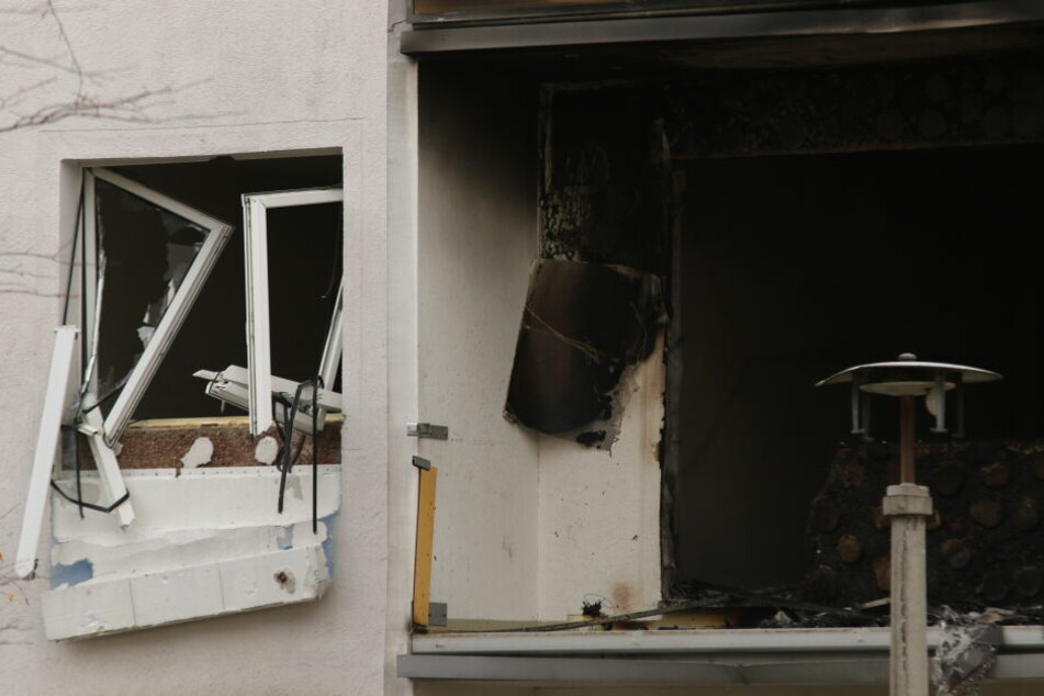 In dieser möglicherweise durch Gasflaschen explodierten Wohnung starb ein 78 Jahre alter Mann.