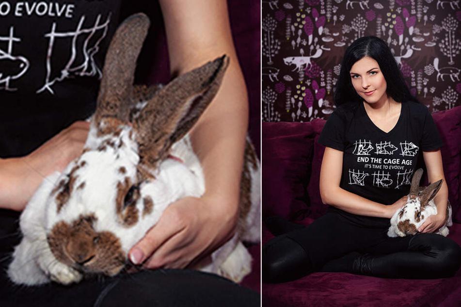 ... stammt Klecks. Beide Kaninchen hat Uta Lüdtke behalten.