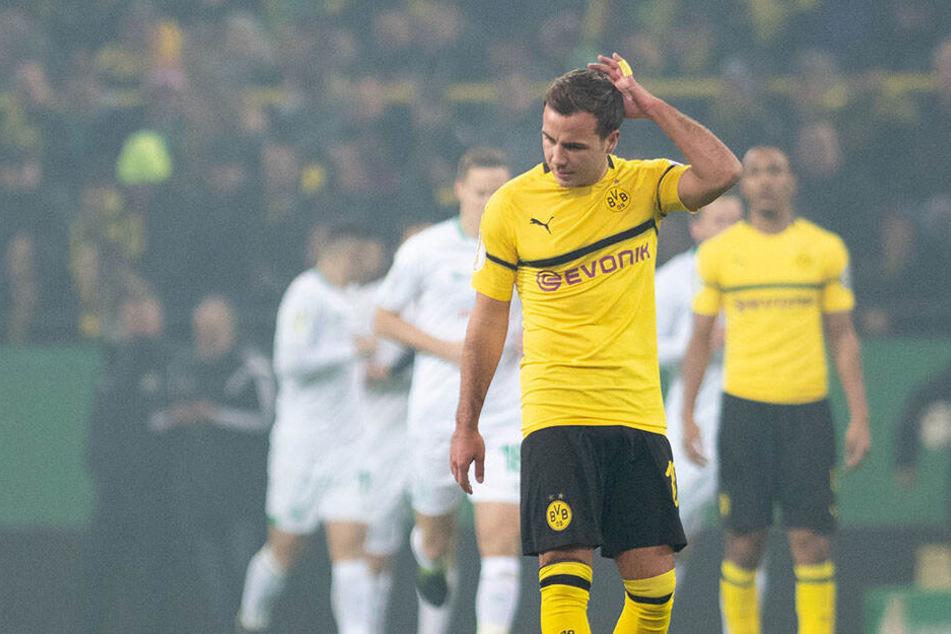 Mario Götze fassungslos: Borussia Dortmund sah in der Verlängerung wie der Sieger aus, kassierte aber zweimal den Ausgleich.