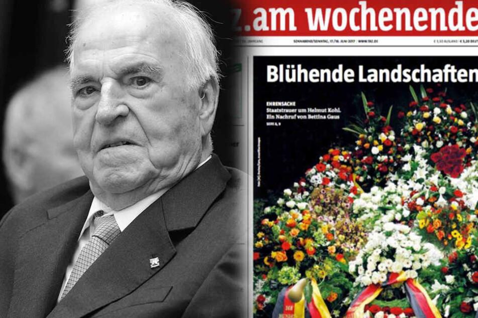 """Geht die """"taz"""" mit dieser Titelseite zum Tod von Helmut Kohl zu weit?"""