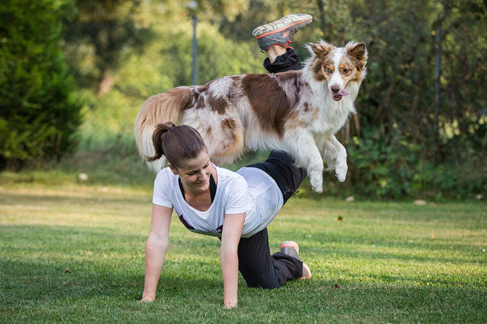 Jessica Lang trainiert mit ihrer Hündin Elliott seit Monaten für die Dogdance-Meisterschaft. Bei dem Sport präsentieren Mensch und Hund zu Musik eine selbst erarbeitete Choreografie.