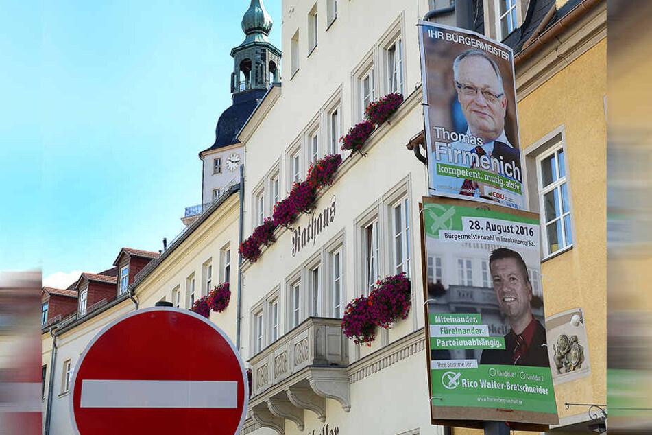 Am Sonntag wird in Frankenberg ein neuer Bürgermeister gewählt.