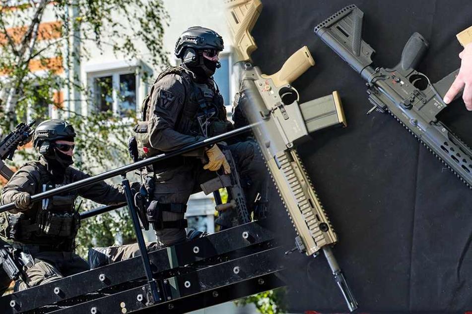 SEK-Einsatz in Dresden: 37-Jähriger posiert mit gefährlichen Waffen