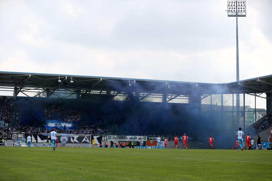 Ein Foto aus einer anderen Zeit: Am 25. Mai 2019 sahen knapp 12.000 Zuschauer in Chemnitz das Landespokalfinale zwischen dem CFC und dem FSV Zwickau, dass die Himmelblauen gewannen 2:0.
