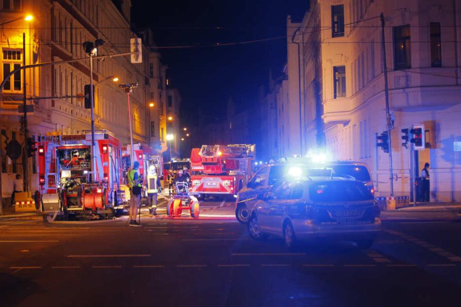 In der Nacht zu Sonntag hatte es auf der Oststraße plötzlich gekracht.