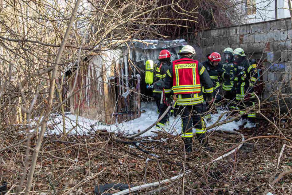 Feuerwehreinsatz in Plauen: Schuppen in Wohngebiet abgebrannt