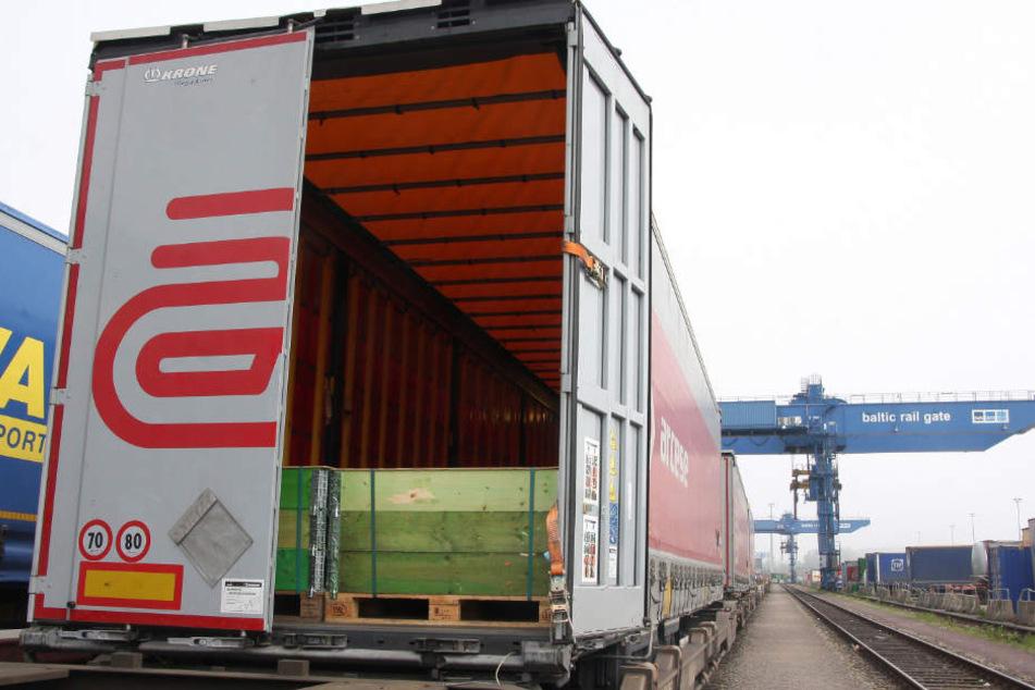 In diesem Container wurden die Menschen entdeckt.
