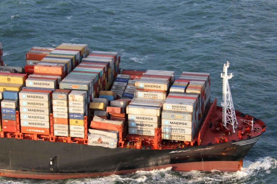 "Die ""MSC Zoe"" verlor Anfang Januar 342 Container in der Nordsee. Weitere wurden beschädigt. (Archivbild)"