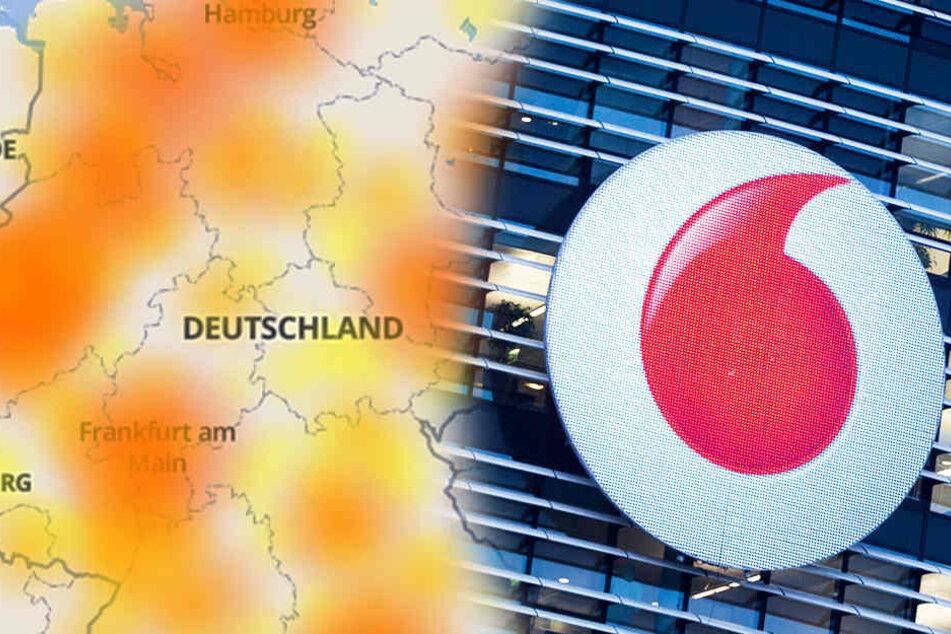 Bei Vodafone geht in Sachen Festnetz und Internetanschluss am Sonntag deutschlandweit mal wieder nichts.