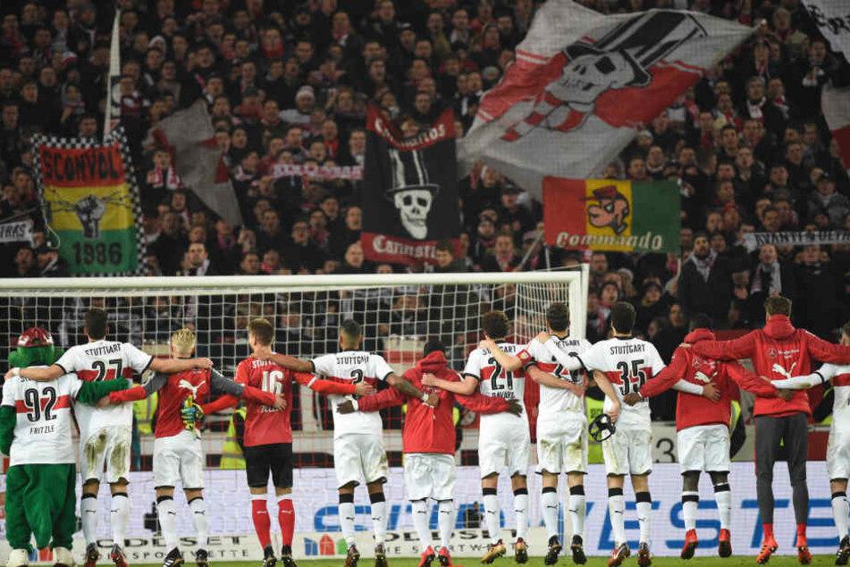Stuttgarter feiern ihren Sieg!