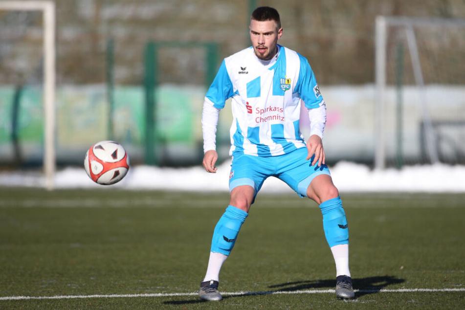 Im Testspiel am Sonnabend gegen den Halleschen FC (2:4) stand Erlbeck erstmals für die Chemnitzer auf dem Platz.