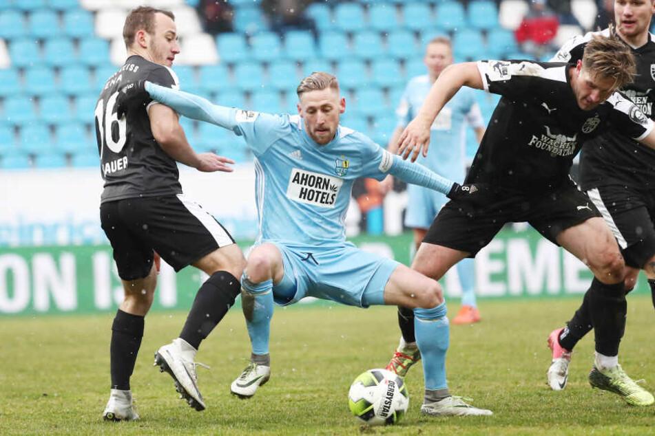 Erstmals unter Trainer David Bergner in der Startelf: Björn Kluft durfte im Ostduell gegen Jena von Anfang an ran.