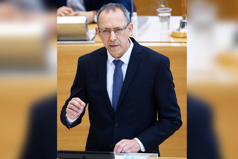 AfD-Fraktionschef im Sächsischen Landtag, Jörg Urban (57).