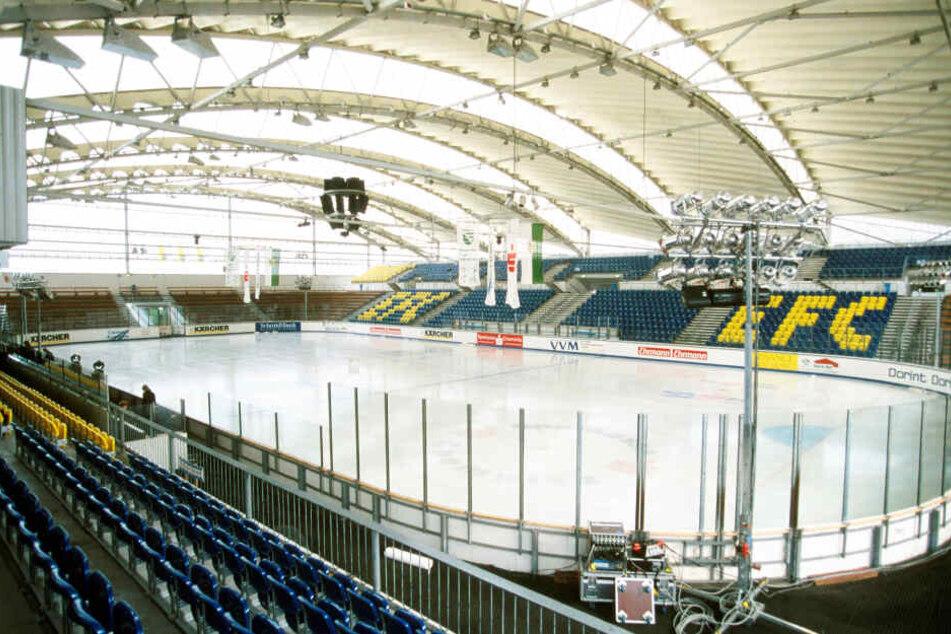 Olympia in der Chemnitzer Eissporthalle? Das stand unter anderem in dem Plan, den die Ideengebern präsentierten.