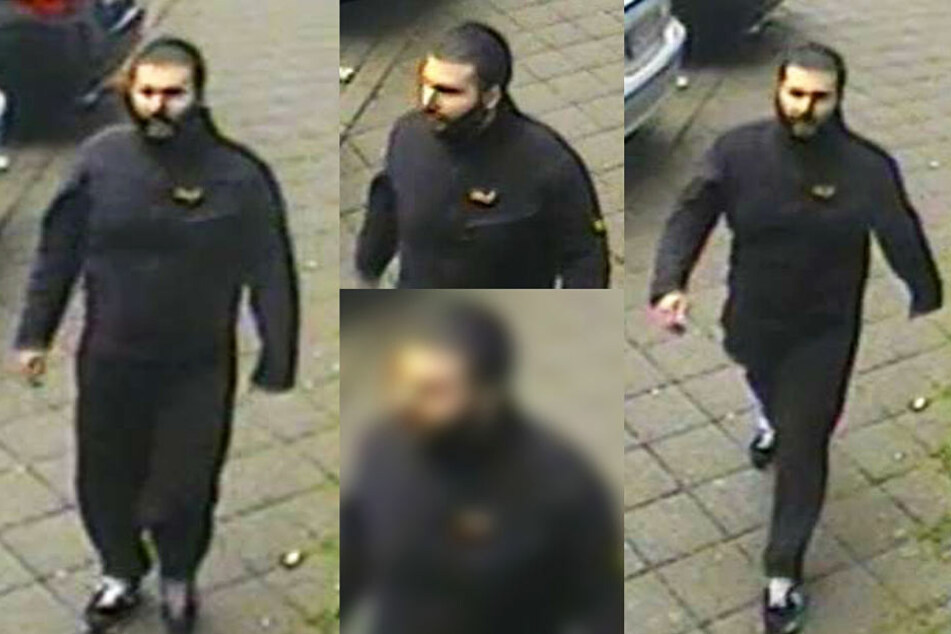 Diese Fahndungsfotos des mutmaßlichen Angreifers hat die Polizei veröffentlicht.