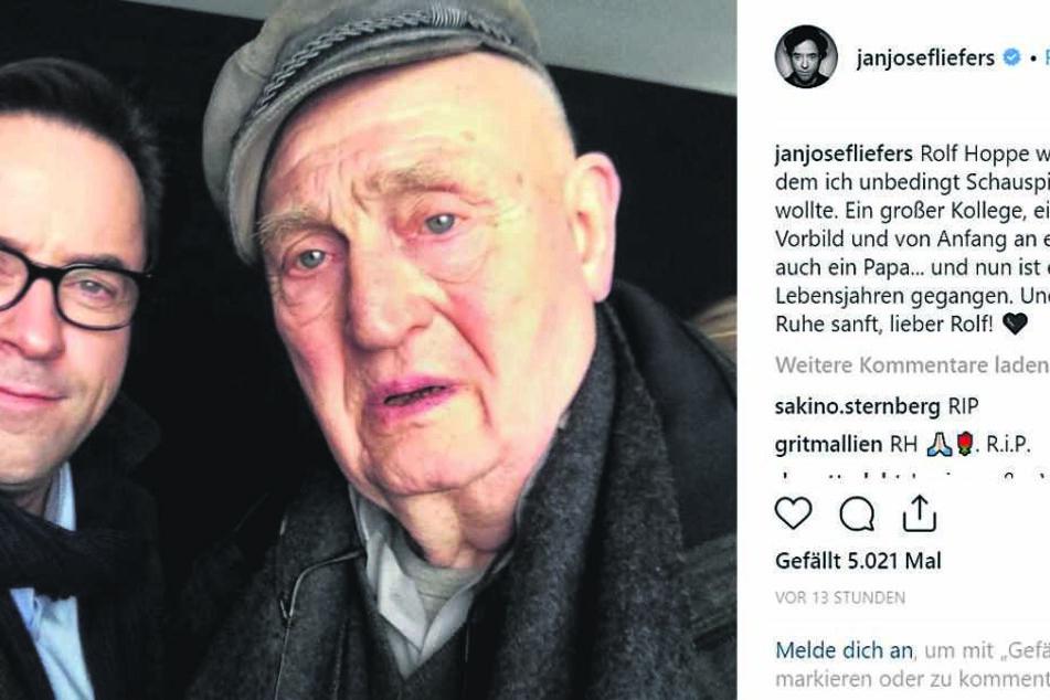 Jan Josef Liefers auf Instagram.