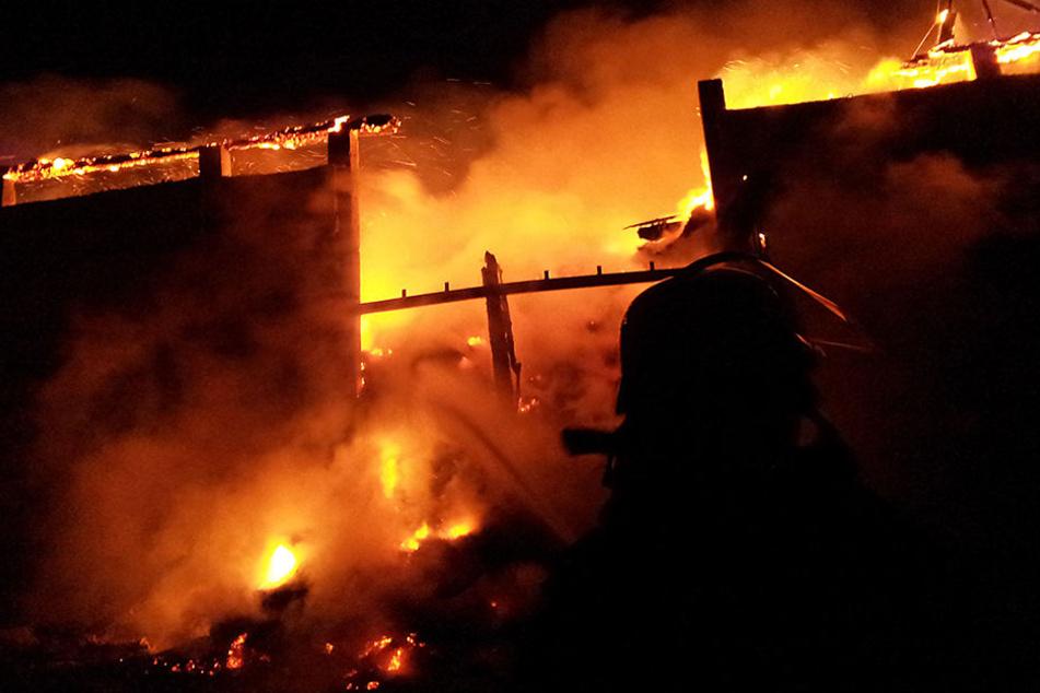 Ende 2014 brannte die Scheune in Breitenau lichterloh.