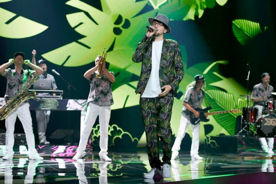 "Die Sieger-Band ""EES & the Yes-Ja-Band"" beim ""X Factor""Live-Finale in den MMC Studios in Köln am 19.10.2018"