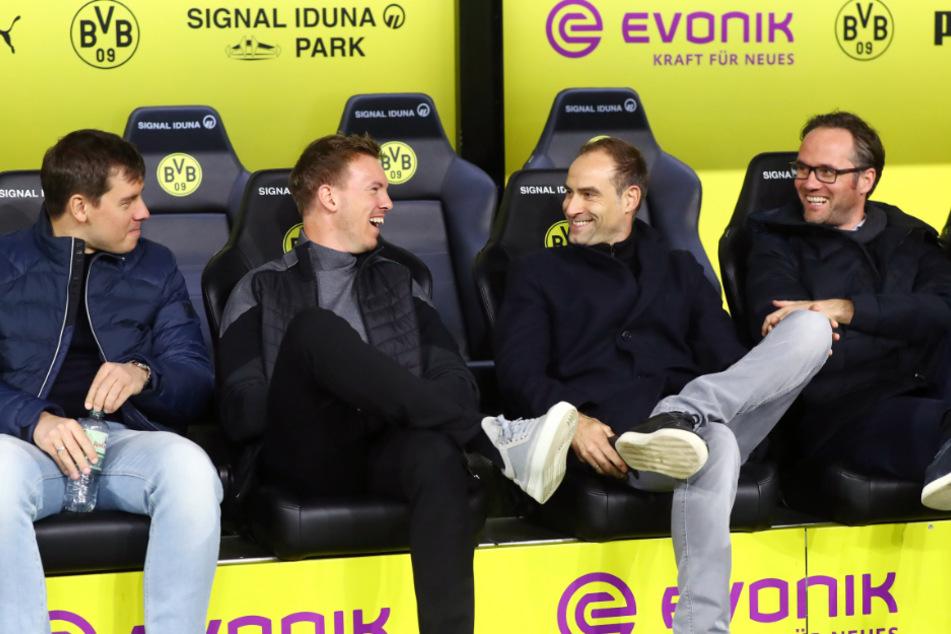 Laut Vorstandschef Oliver Mintzlaff (45) hat RB-Trainer Julian Nagelsmann (33) nicht geringsten Grund, Leipzig vorzeitig zu verlassen. (Archivbild)