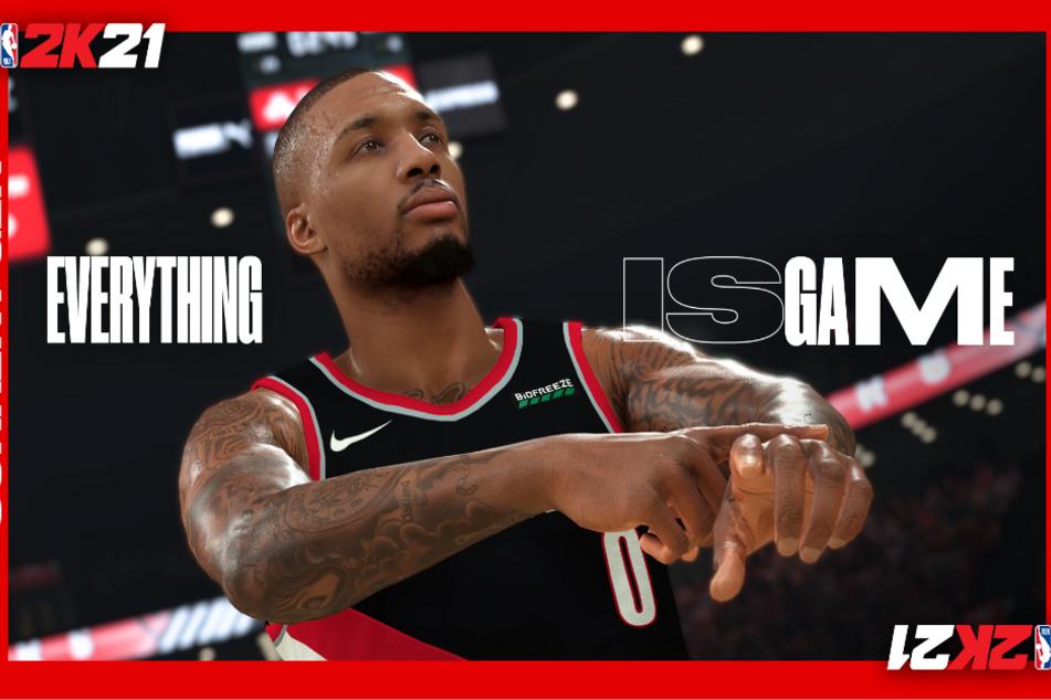 Point Guard Damian Lillard von den Portland Trail Blazers ziert das Cover der Standard-Edition von NBA 2K21.