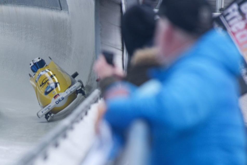 Francesco Friedrich meisterte die Ausfahrt am S4 unter den Augen seiner Fans nahezu perfekt.