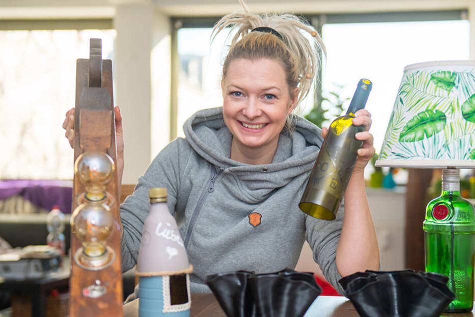 Diese Lampen waren mal Flaschen: Donna Quijote schafft Erleuchtung aus Müll