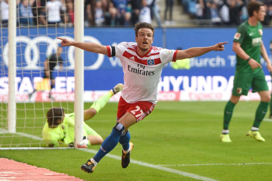 Jubelt Nicolai Müller auch in der nächsten Saison für den HSV?