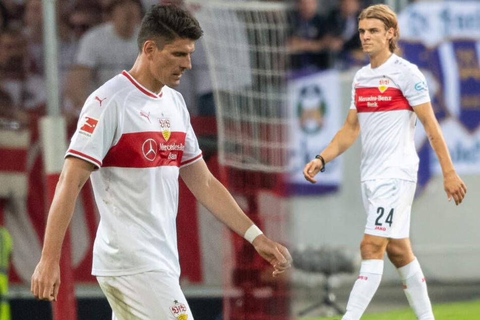 Mario Gomez (links im Bild) und Borna Sosa können beim Auswärtsspiel in Regensburg nicht mitwirken. (Fotomontage)