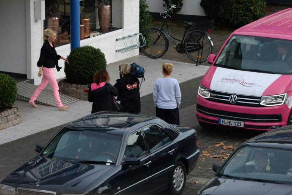 Im Oktober 2017 war der pink-weiße Bulli in der Neuenkirchener Straße zu sehen.